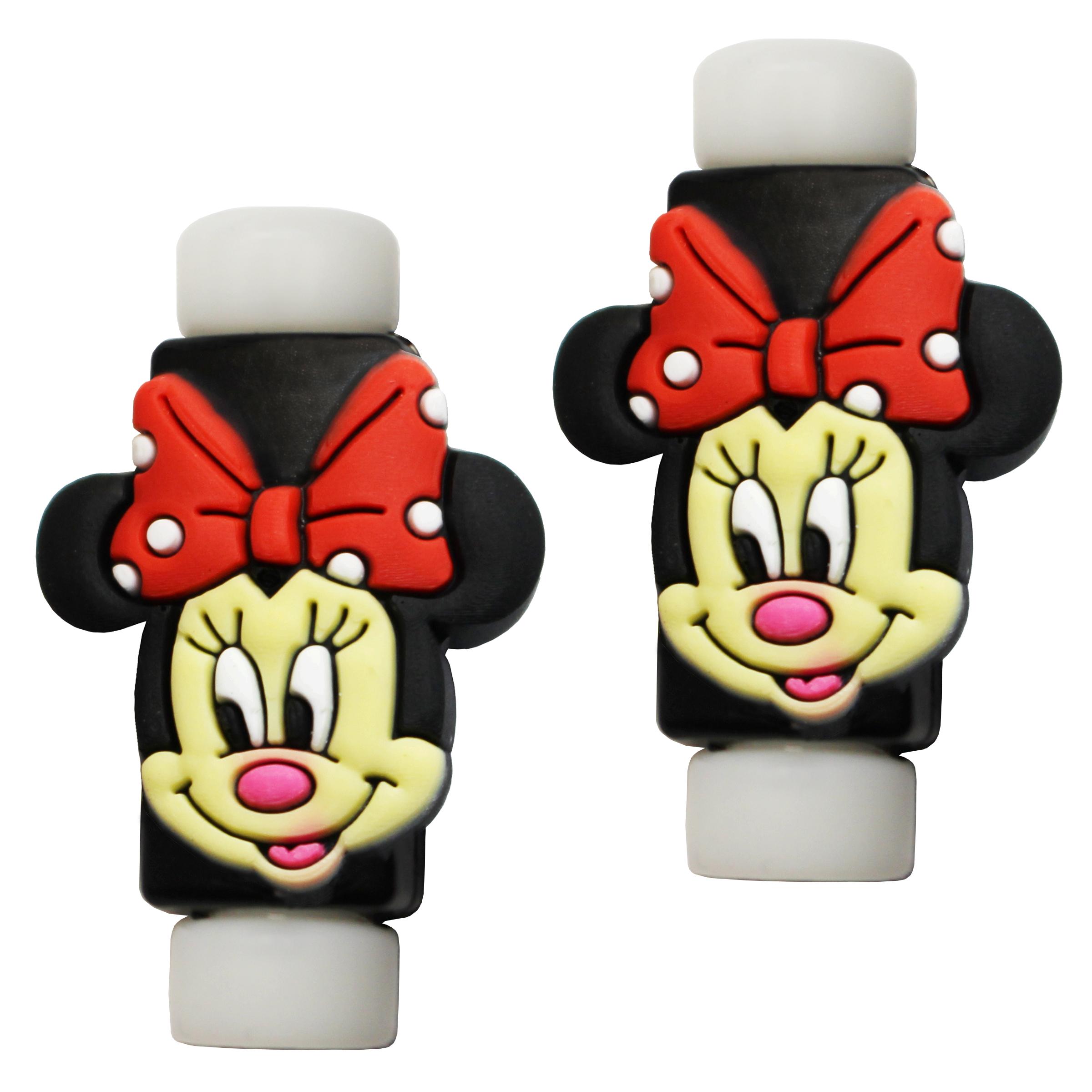 بررسی و {خرید با تخفیف} محافظ کابل طرح Minnie Mouse کد 3312 بسته 2 عددی اصل