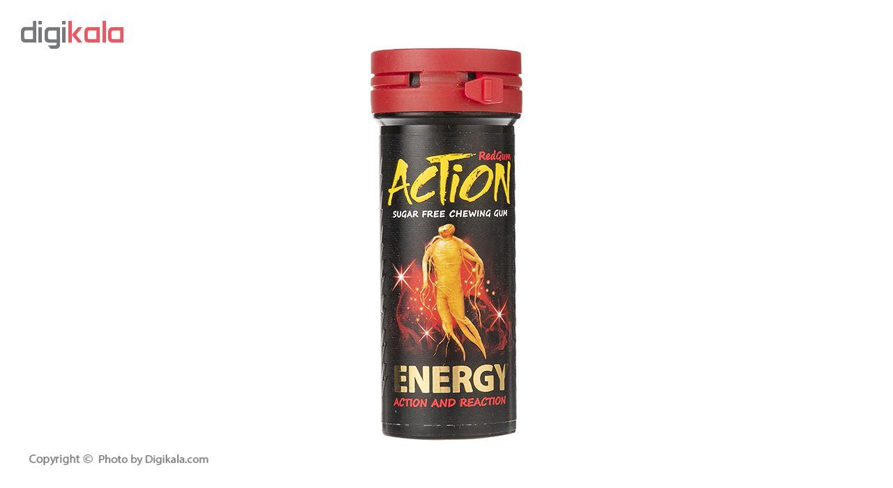 آدامس دراژه بدون شکر انرژی زا اکشن مقدار 38 گرم