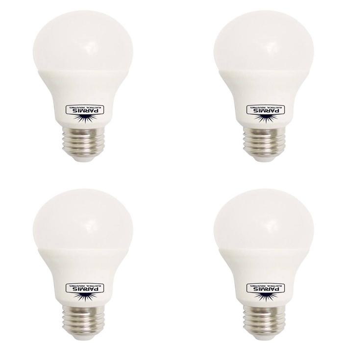 لامپ اس ام دی 9 وات صنایع الکتریکی پارمیس مدل M1 پایه E27 بسته 4 عددی