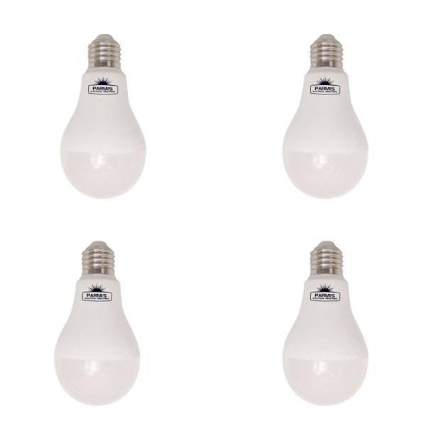 لامپ اس ام دی 12 وات صنایع الکتریکی پارمیس مدل M2 پایه E27 بسته 4 عددی