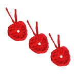 آویز تزیینی بافتنی مدل قلب کد GH101 بسته سه عددی