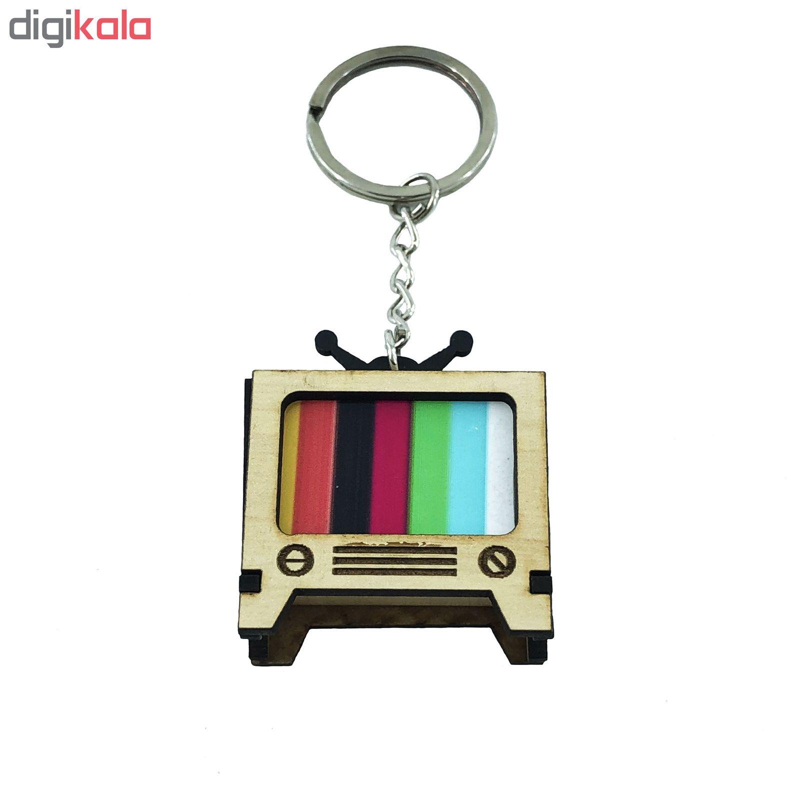 جاکلیدی گالری عزیزی طرح تلویزیون مدل GZ98348