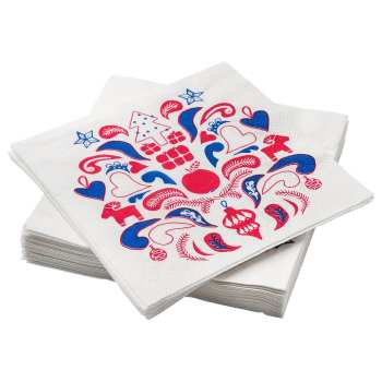 دستمال سفره ایکیا مدل Vinterfest کد 00432834 بسته 30 عددی