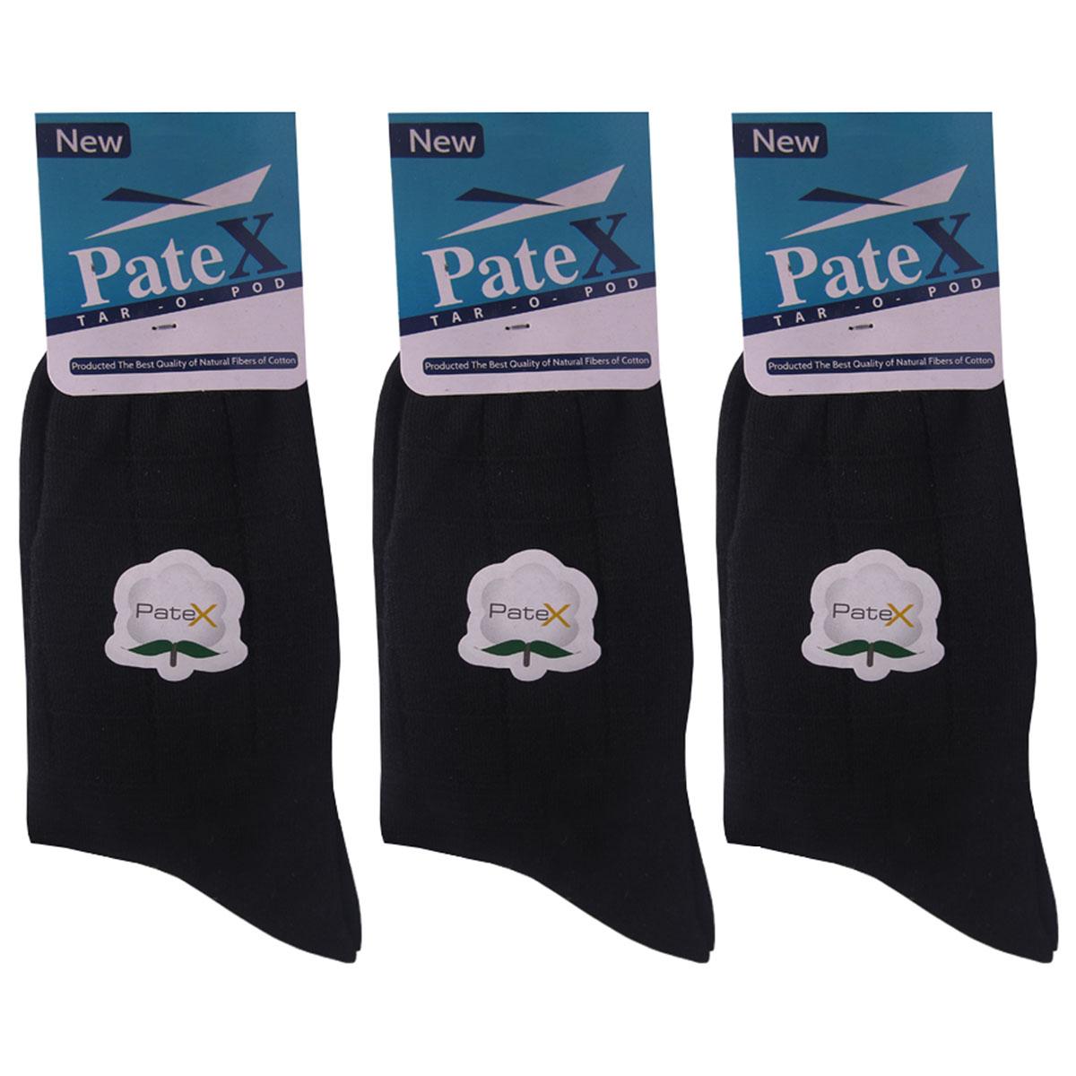 جوراب مردانه پتکس مدل a101 بسته 3 عددی