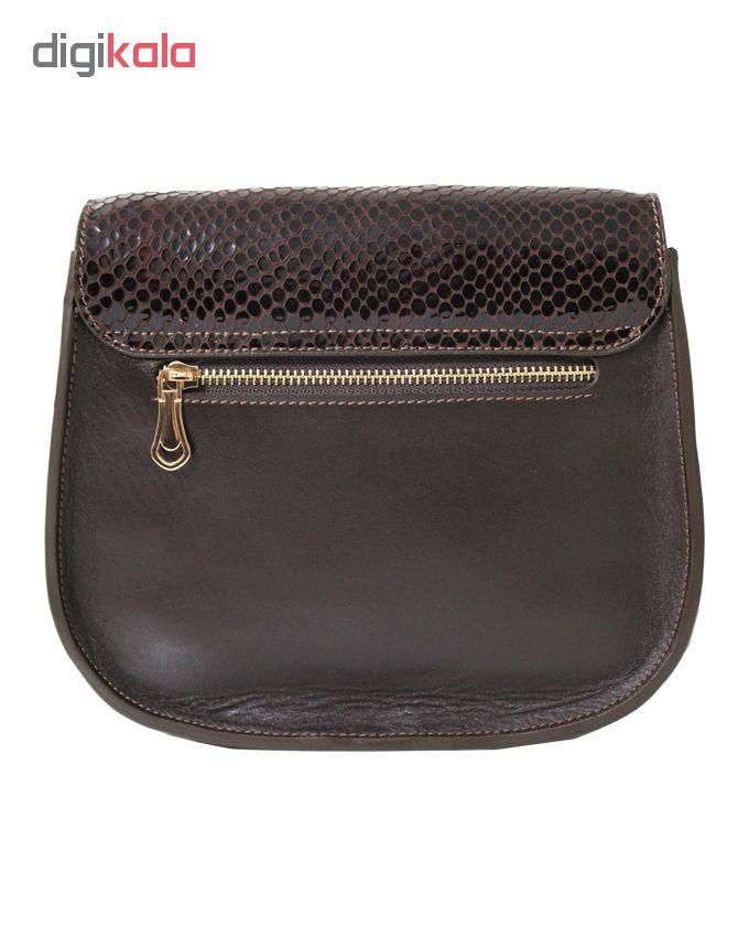 کیف دوشی زنانه چرم آرا کد 3 d060