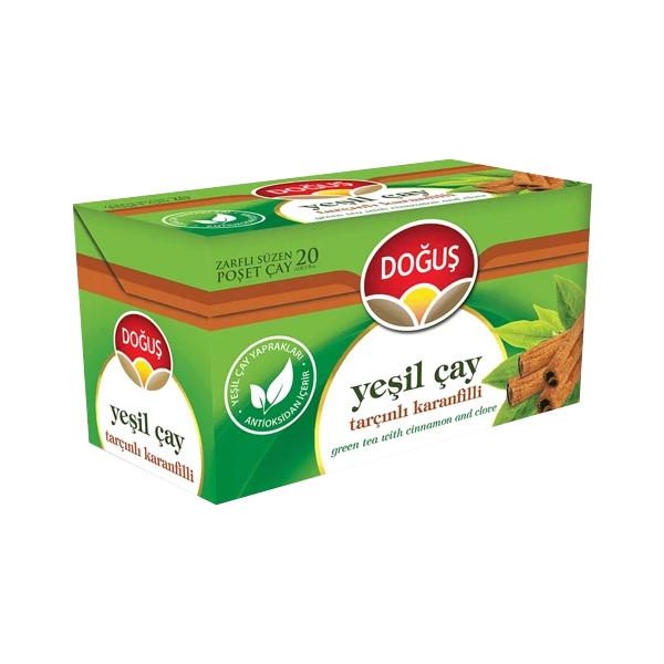 دمنوش چای سبز و دارچین دوغوش بسته 20 عددی