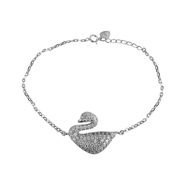 دستبند نقره زنانه مد و کلاس کد 1000503