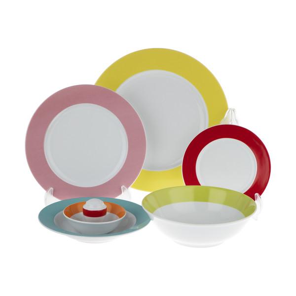 سرویس غذا خوری 28 پارچه پارمیس طرح رنگین کمان کد 002