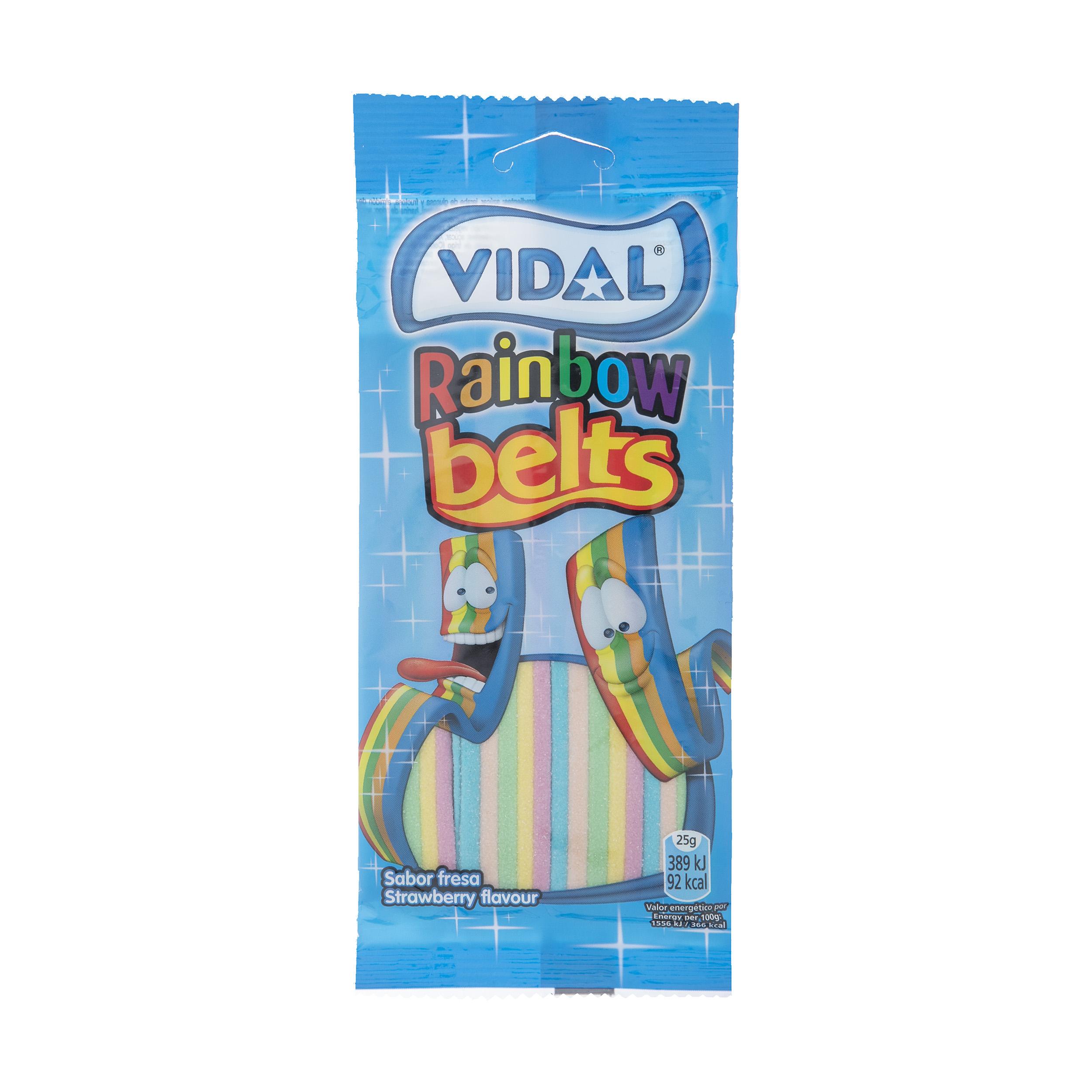 پاستیل ویدال طرح نواری رنگین کمان مقدار 100 گرم