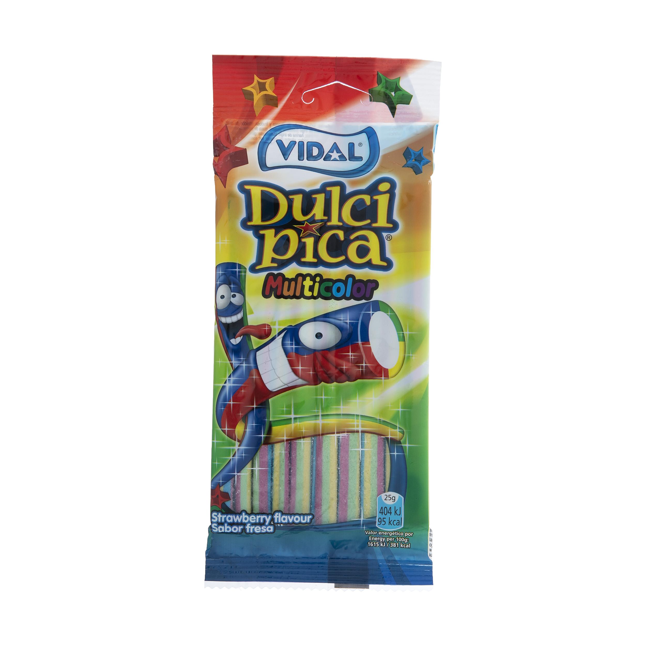 پاستیل ویدال طرح مدادی رنگین کمان مقدار 100 گرم