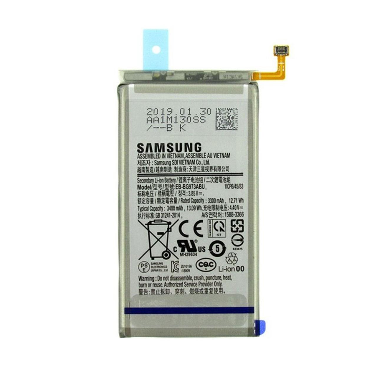 باتری موبایل مدل EB-BG973ABU ظرفیت 3400 میلی آمپر ساعت مناسب برای گوشی موبایل سامسونگ GALAXY S10