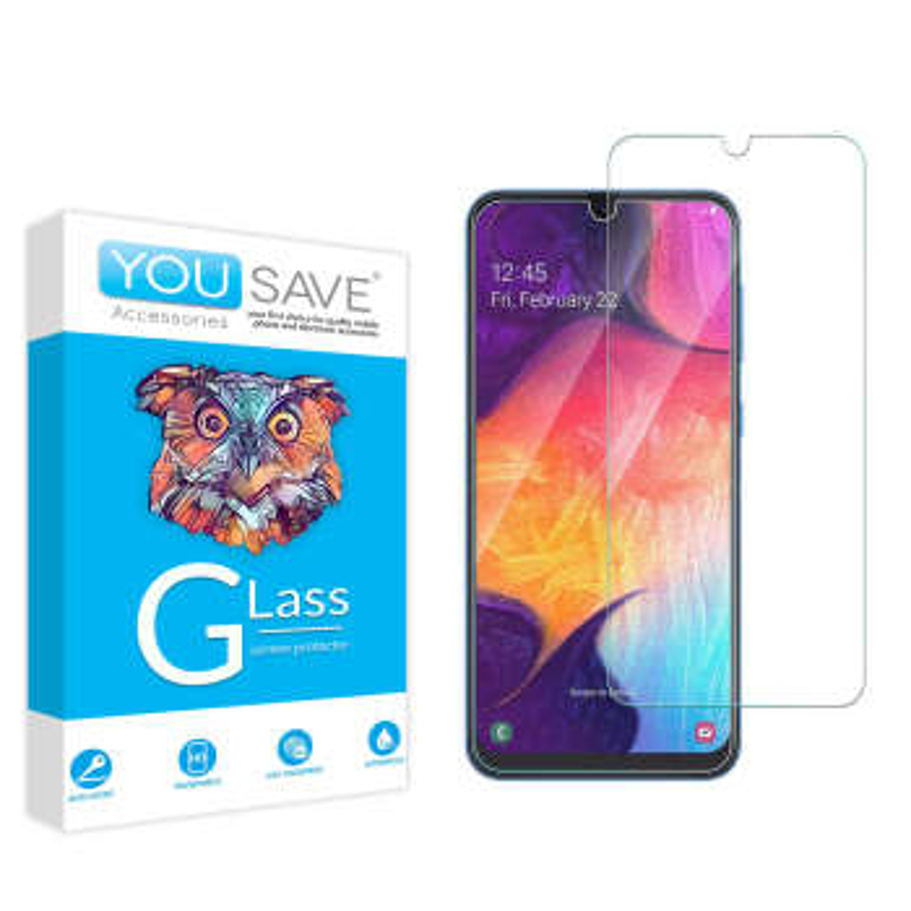 محافظ صفحه نمایش یوسیو مدل JS مناسب برای گوشی موبایل سامسونگ Galaxy A70