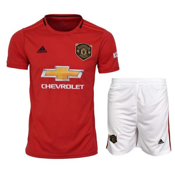 ست پیراهن و شورت ورزشی طرح منچستر یونایتد مدل 20-2019 کد pst رنگ قرمز