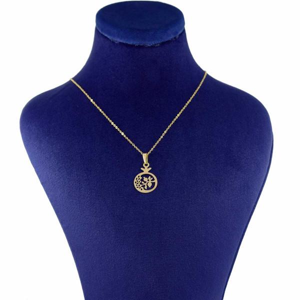 گردنبند طلا 18 عیار زنانه کانیار گالری طرح انار کد 2460