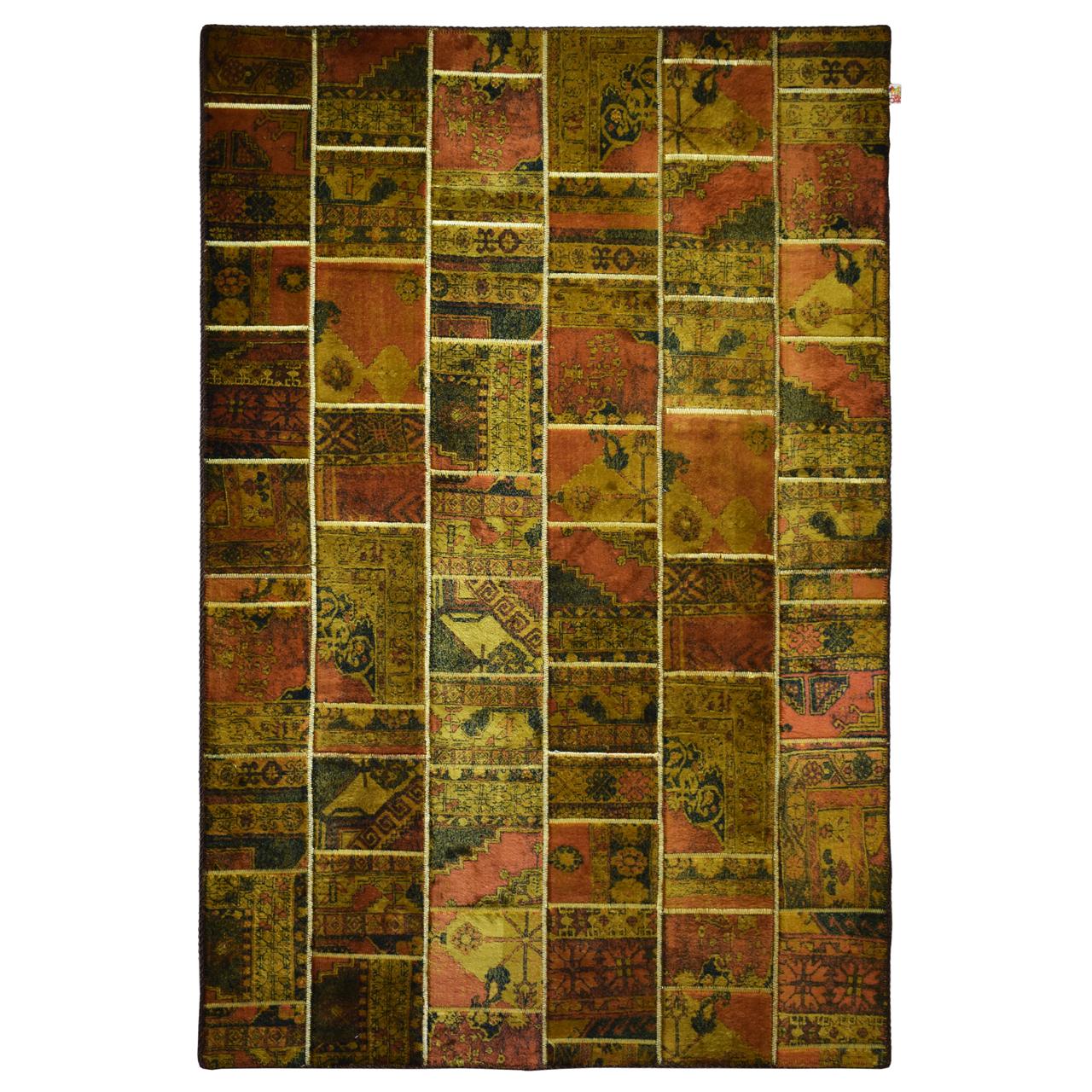 فرش ماشینی امپریال طرح بختیاری کد 012 زمینه قهوه ای