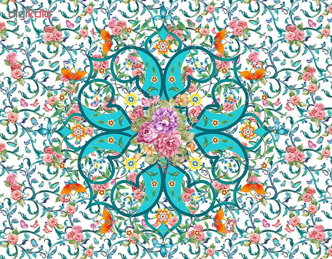 رومیزی طرح گل و پروانه کد 9982