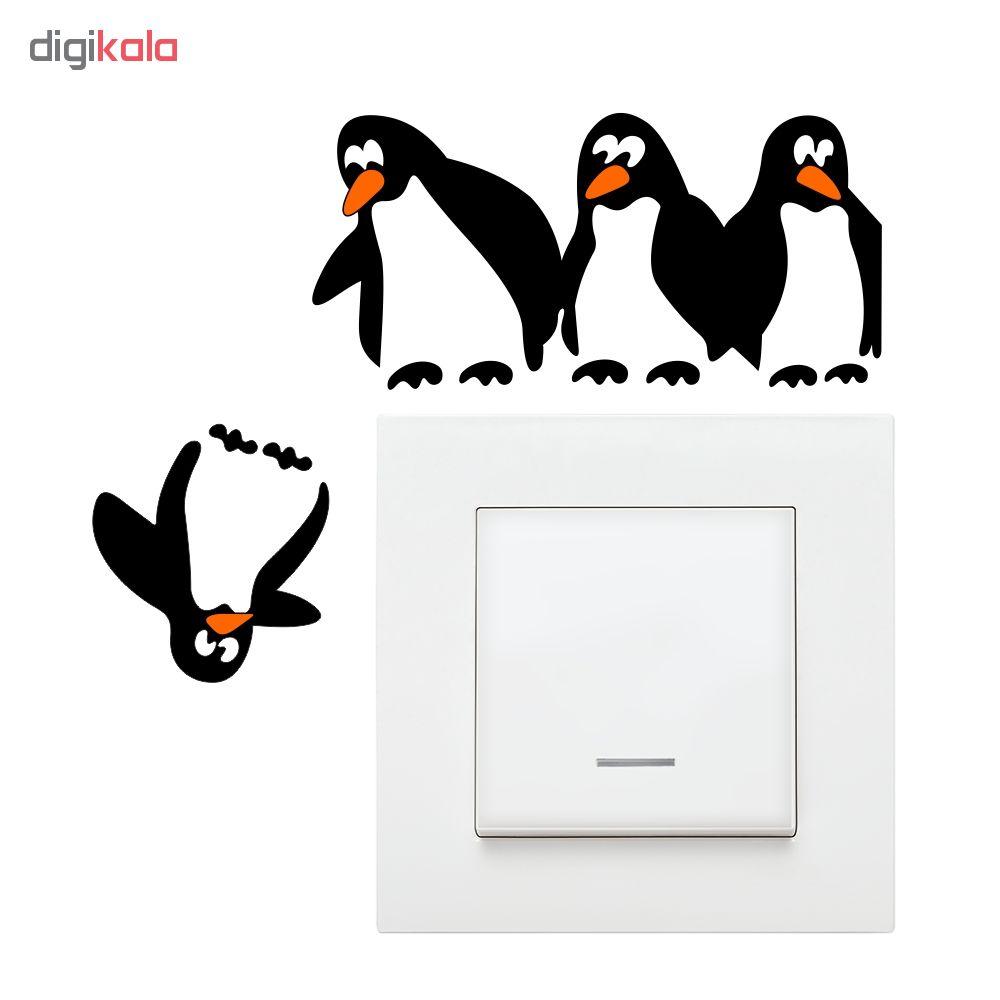 استیکر فراگراف کلید پریز FG طرح پنگوئن ها بسته دو عددی