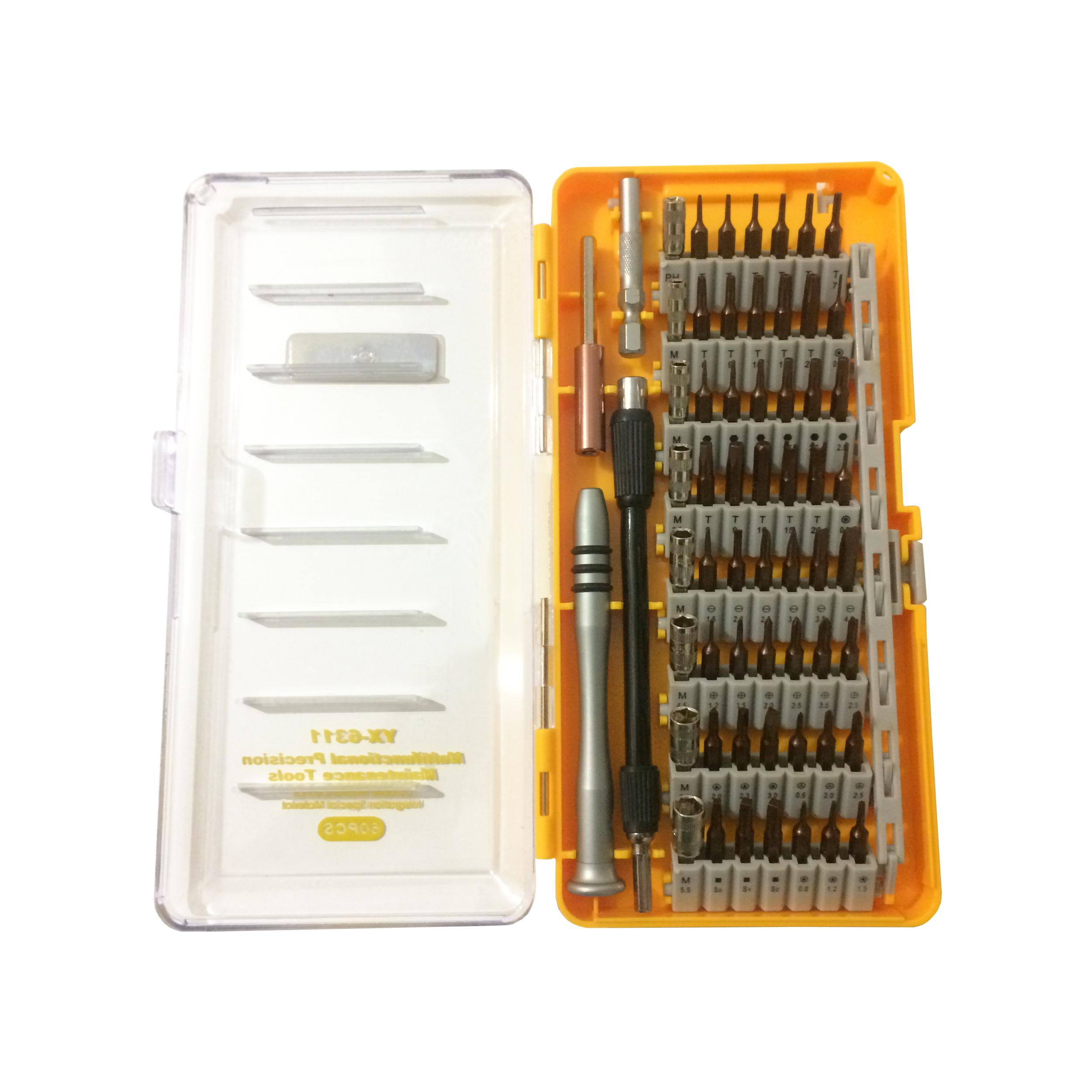 مجموعه 60 عددی سری پیچ گوشتی یاکسون مدل YX-6311