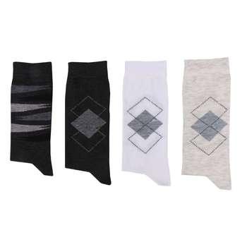 جوراب مردانه کد A01 مجموعه 4 عددی