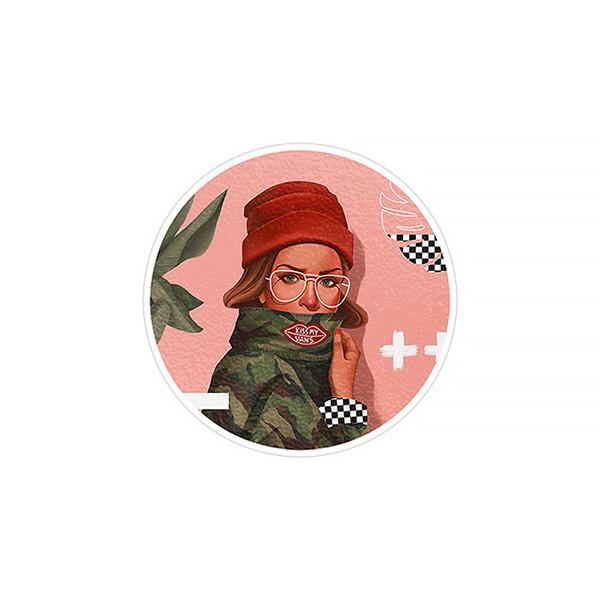 استیکر لپ تاپ ماسا دیزاین طرح دختر مدل STK303