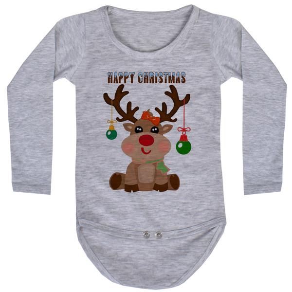 بادی آستین بلند نوزاد طرح کریسمس کد AR39