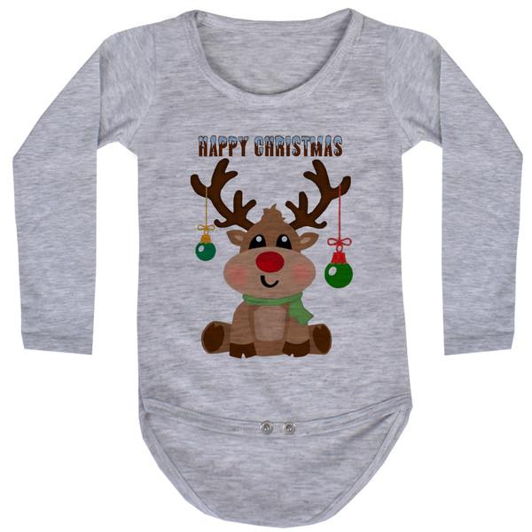 بادی آستین بلند نوزاد طرح کریسمس کد AR40