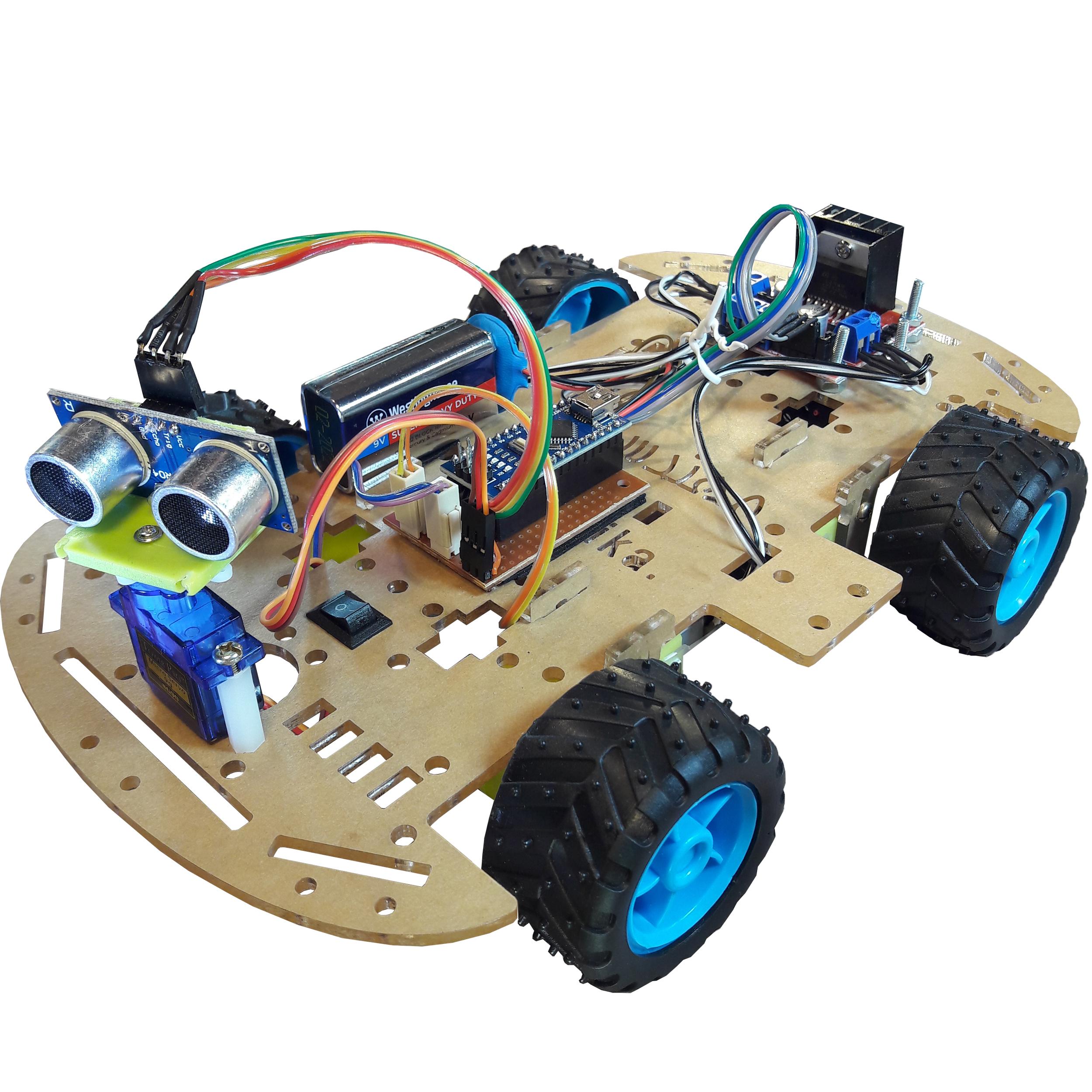 ربات تشخیص مانع مهندسیکا مدل 4W-R4000