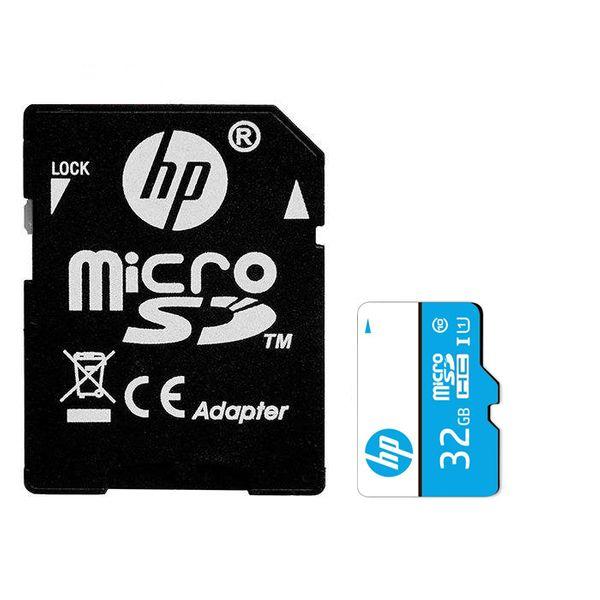 کارت حافظه microSDHC اچ پی مدل mi200 کلاس 10 استاندارد UHS-I U1 سرعت 65MBps ظرفیت 32گیگابایتبه همراه آداپتور SD