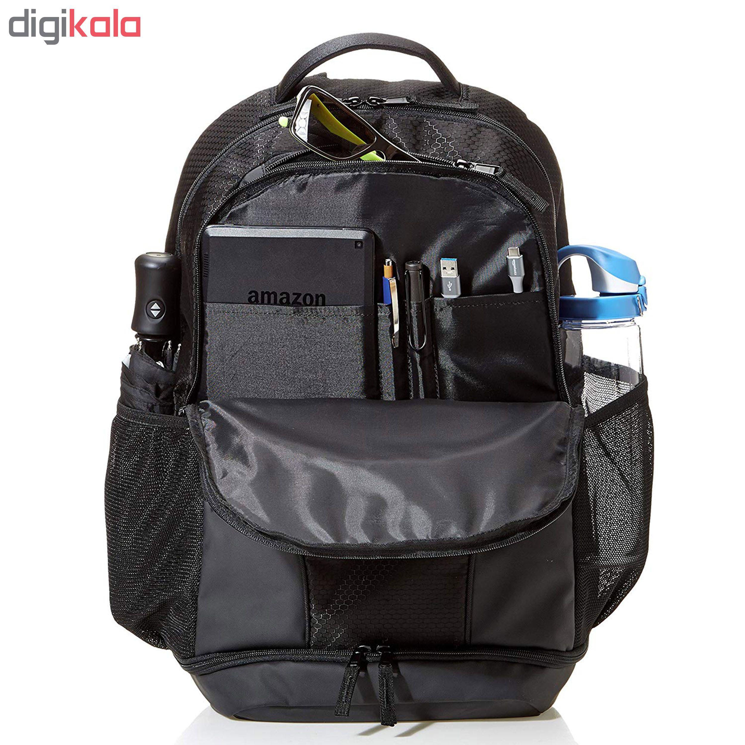 کوله پشتی لپ تاپ آمازون بیسیکس مدل ZH1802045R1 مناسب برای لپ تاپ 15.6 اینچی