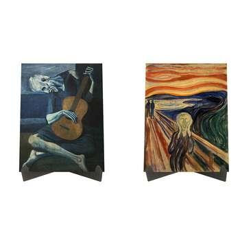 تابلو شاسی رومیزی سری آثار برتر نقاشان دنیا کد LS2191 مجموعه 2 عددی