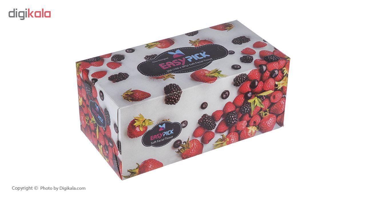 دستمال کاغذی 100 برگ ایزی پیک مدل Redfruit main 1 5