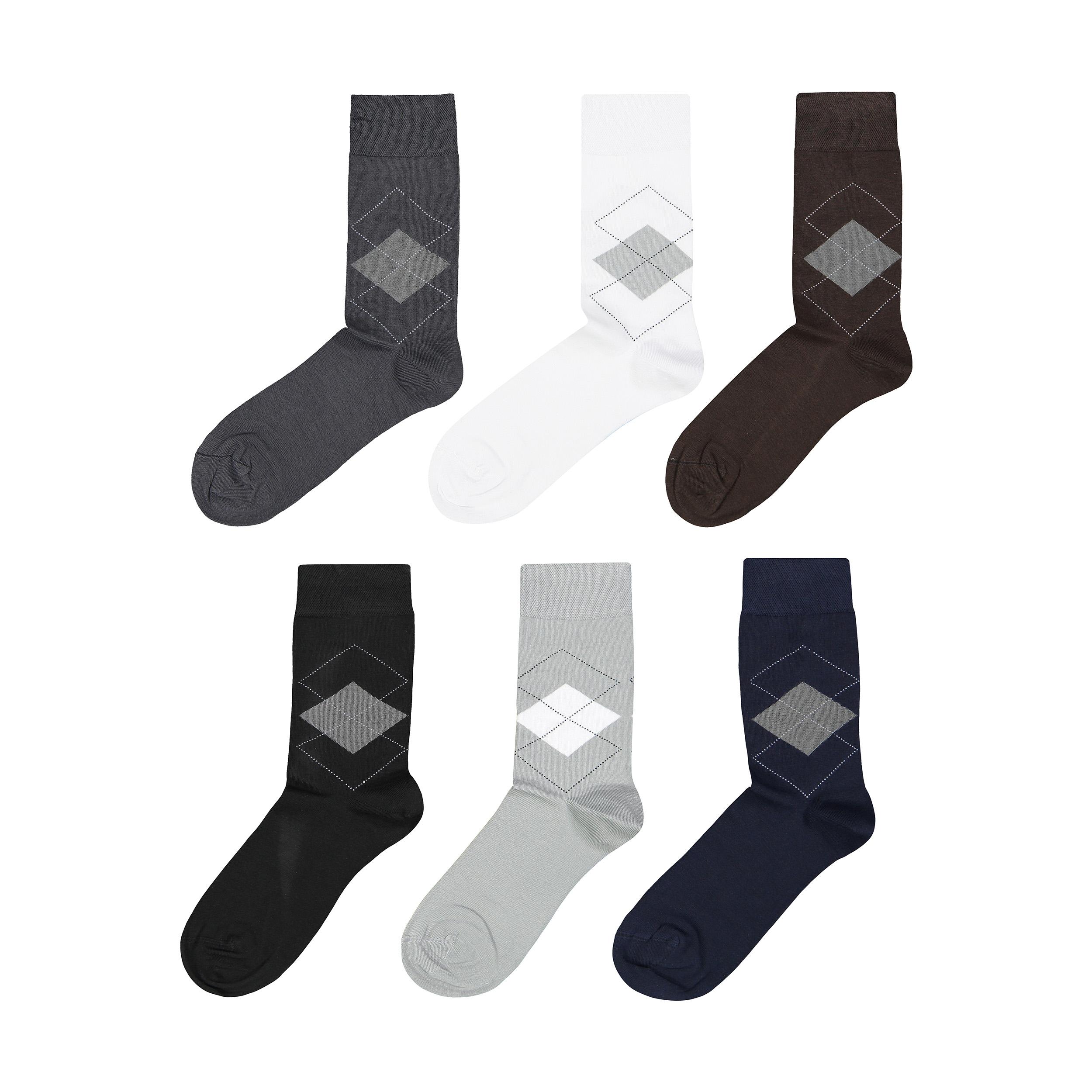 جوراب مردانه پاما کد 040-200 مجموعه 6 عددی thumb