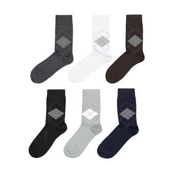جوراب مردانه پاما کد 040-200 مجموعه 6 عددی