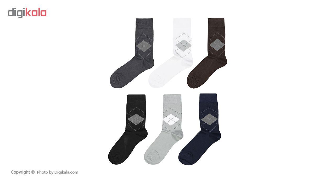 جوراب مردانه پاما کد 040-200 مجموعه 6 عددی main 1 1