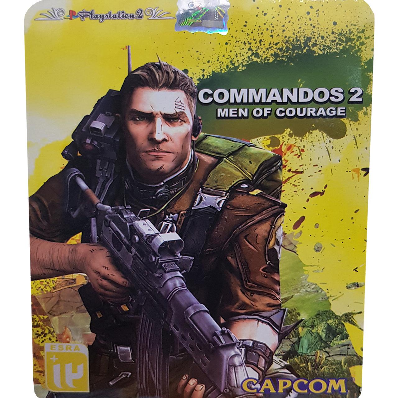 بازی Commandos 2 Men of Courage مخصوص PS2 نشر لوح زرین