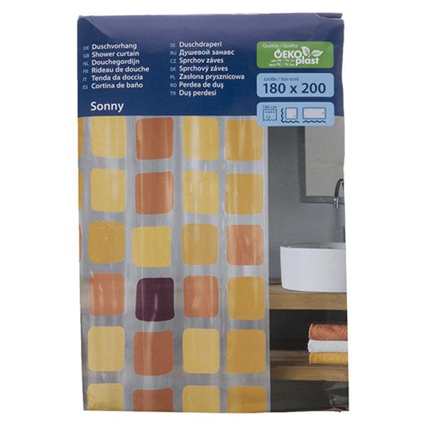 پرده حمام کلین ولک کد 4956580305 سایز 180 × 200 سانتی متر