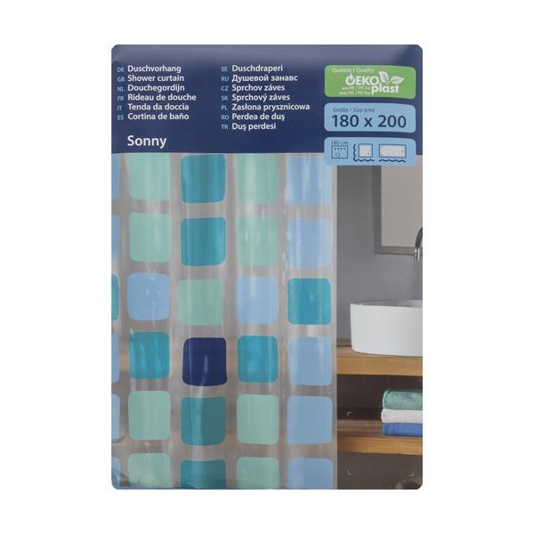 پرده حمام کلین ولک کد 4956721305 سایز 180 × 200 سانتی متر