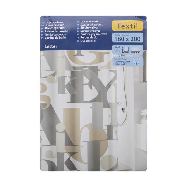 پرده حمام کلین ولک کد 5904202305 سایز 180 × 200 سانتی متر
