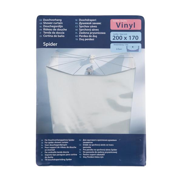 پرده حمام کلین ولک کد 5101100303 سایز 170 × 200 سانتی متر