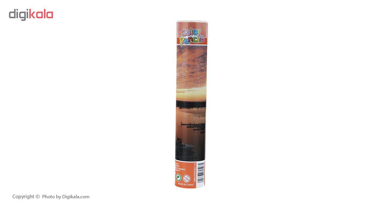 مداد رنگی 12 رنگ بنیتو اسپاین مدل 02
