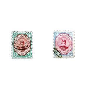 تمبر یادگاری مدل قاجار احمدی کد ahs2 مجموعه 2 عددی