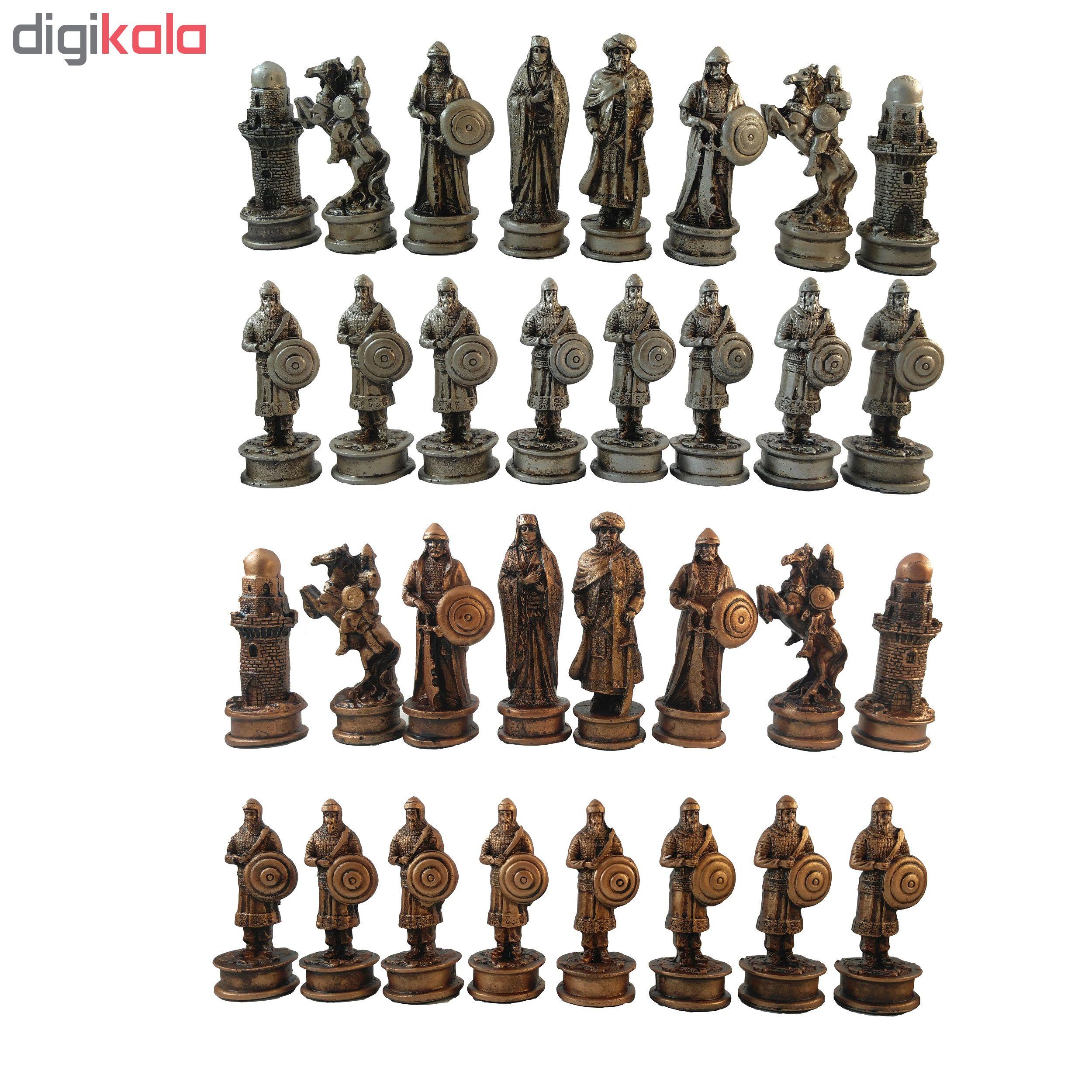 مهره شطرنج کد A4 مجموعه 32 عددی