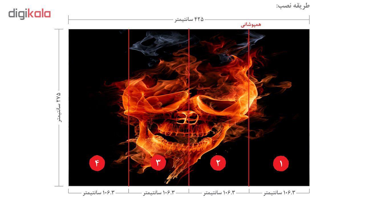 پوستر دیواری طرح بلک لایت کد FIRE1