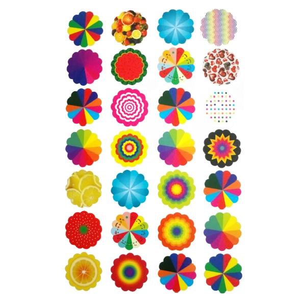 عکس چتر تزئینی کد T001 بسته 100 عددی