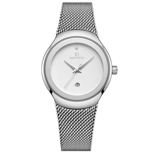 ساعت مچی عقربه ای زنانه نیوی فورس مدل NF5004-S-W