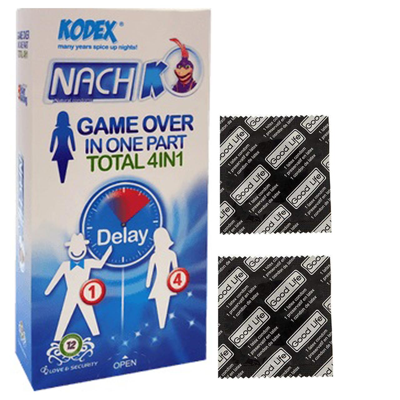 خرید                      کاندوم ناچ کدکس مدل Game Over بسته 12 عددی  به همراه کاندوم گود لایف مدل کلاسیک مجموعه 2 عددی