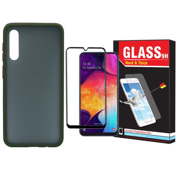 کاور مدل Sb-001 مناسب برای گوشی موبایل سامسونگ Galaxy A50/A30s/A50s به همراه محافظ صفحه نمایش Hard and Thick