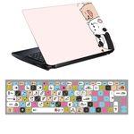استیکر لپ تاپ طرح کله فندقی ها کد 0909-98 مناسب برای لپ تاپ 15.6 اینچ به همراه برچسب حروف فارسی کیبورد thumb