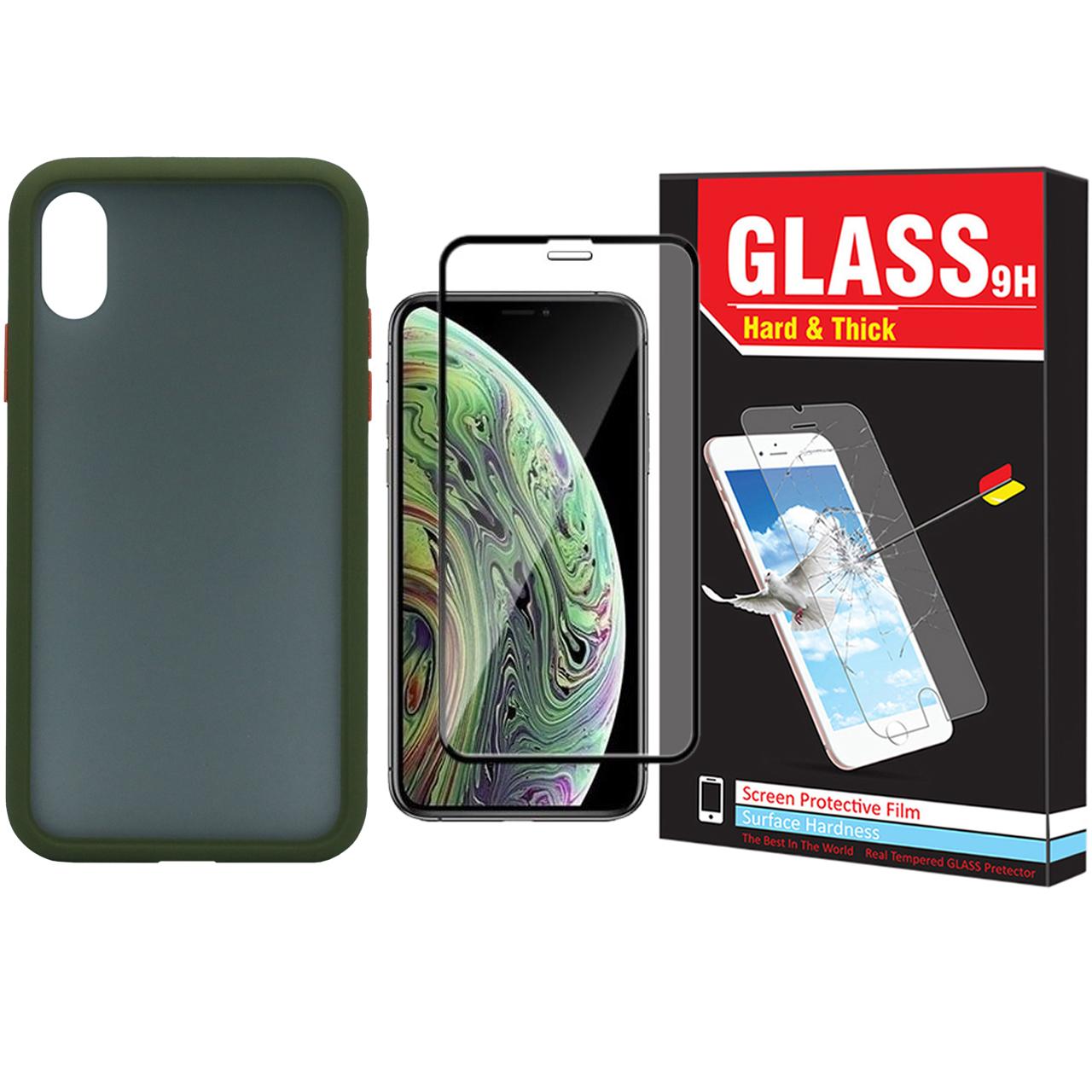 کاور مدل Sb-001 مناسب برای گوشی موبایل اپل Iphone X / Xs به همراه محافظ صفحه نمایش Hard and Thick