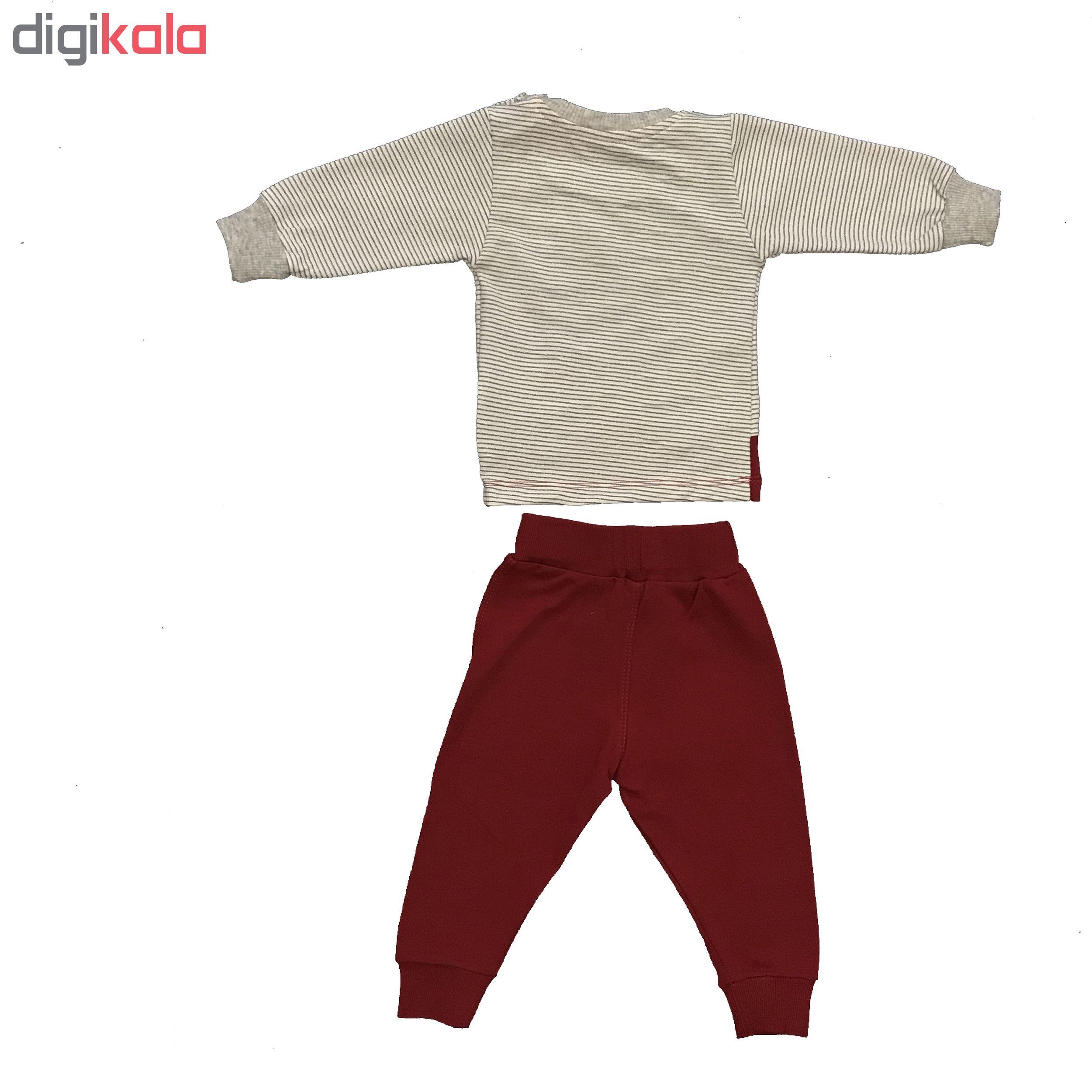 ست تی شرت و شلوار پسرانه طرح ماشین کد Cl-105